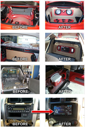 before after car audio