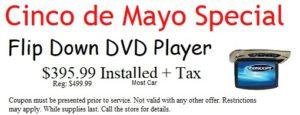 Flip Down DVD Player